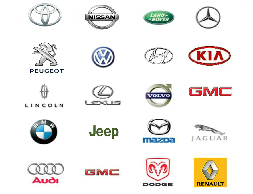 New Luxury Car Logos Work Square